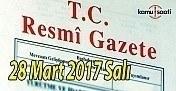 TC Resmi Gazete - 28 Mart 2017 Salı
