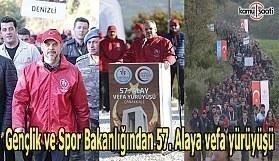 Gençlik ve Spor Bakanlığından 57. Alaya vefa yürüyüşü