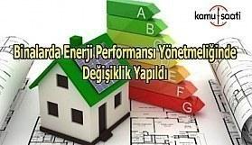 Binalarda Enerji Performansı Yönetmeliğinde Değişiklik Yapıldı
