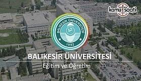 Balıkesir Üniversitesi Ön Lisans ve Lisans Eğitim-Öğretim ve Sınav Yönetmeliği