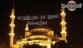2017 Ramazan İftar ve İmsak Saatleri (Ankara, İstanbul, İzmir, 81 İl)