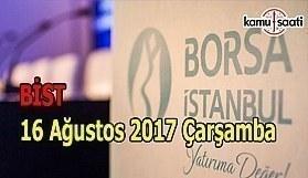 Borsa İstanbul BİST - 16 Ağustos 2017 Çarşamba