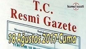 TC Resmi Gazete - 18 Ağustos 2018 Cuma