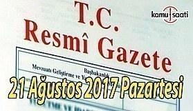 TC Resmi Gazete - 21 Ağustos 2018 Pazartesi