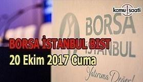 Borsa İstanbul BİST - 20 Ekim 2017 Cuma