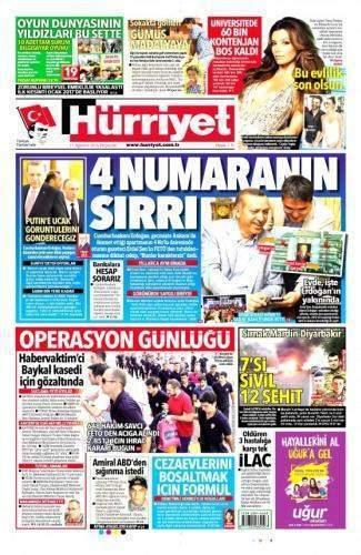 11 Ağustos 2016 Gazete Manşetleri