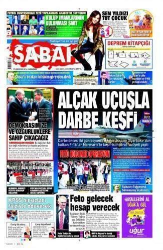 17 Ağustos 2016 Gazete Manşetleri