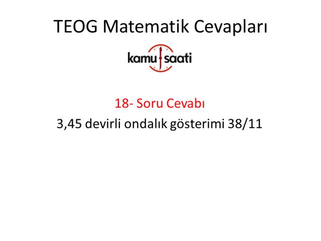 TEOG 1. Dönem Matematik Cevapları
