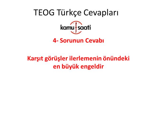 TEOG 1. Dönem Türkçe Cevapları