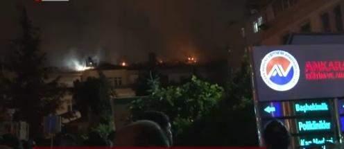 Ankara Numune Hastanesi yangın görüntüleri