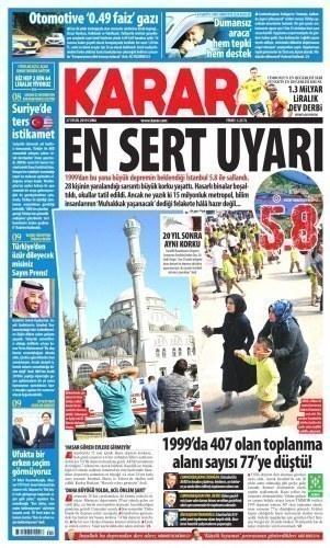 Gazete Manşetleri 27 Eylül 2019
