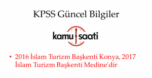 2016 KPSS Güncel Bilgiler