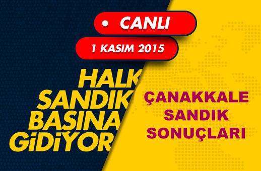 1 Kasım 2015 Çanakkale seçim sonuçları