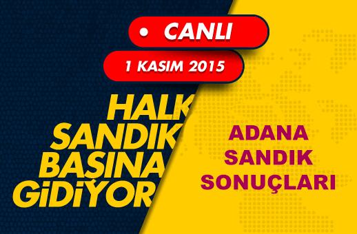 1 Kasım Adana seçim sonuçları