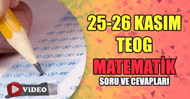 25-26 Kasım TEOG Matematik videolu soru çözümleri