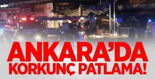 Ankara'da dev patlama! Vatandaşlar panik içinde