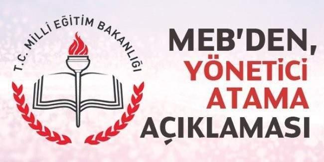 MEB Yönetici Atama Sınavı duyurusu yapıldı