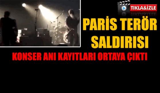 Pariste en çok kayıp yaşanan konser alanının saldırı anı görüntüleri!