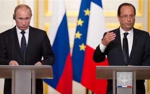 Putin ve Hollande ortak basın açıklaması yaptı