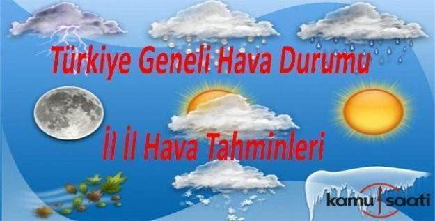 14 Ocak Perşembe Türkiye geneli hava durumu ve il il hava tahminleri!