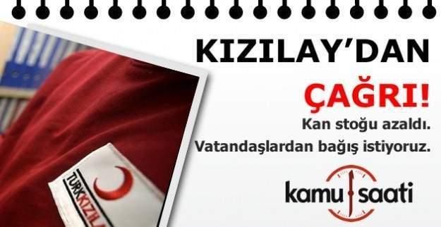 Kızılay'dan vatandaşlara acil çağrı