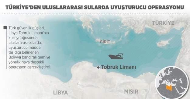 Türkiye'den uluslararası sularda dev uyuşturucu operasyonu