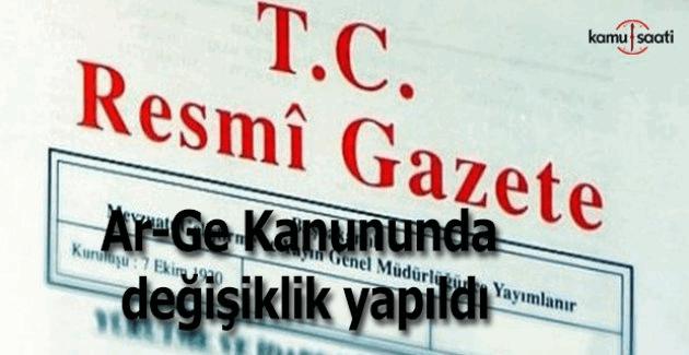 Ar-Ge Kanunu 26 Şubat 2016 tarihli 29636 sayılı Resmi Gazete'de yayımlandı