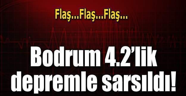 Muğla Bodrum'da deprem oldu, Bodrum depreminin şiddeti kaç?