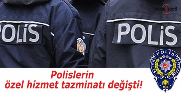 Polislerin özel hizmet tazminatı değişti