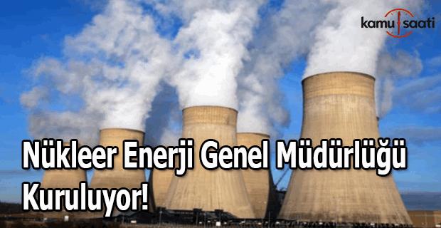 Nükleer Enerji Genel Müdürlüğü kuruluyor!