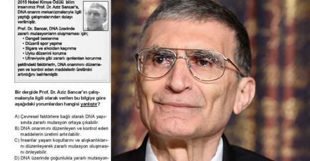 TEOG'da Nobel ödüllü Aziz Sancar soruldu, işte TEOG Aziz Sancar sorusu