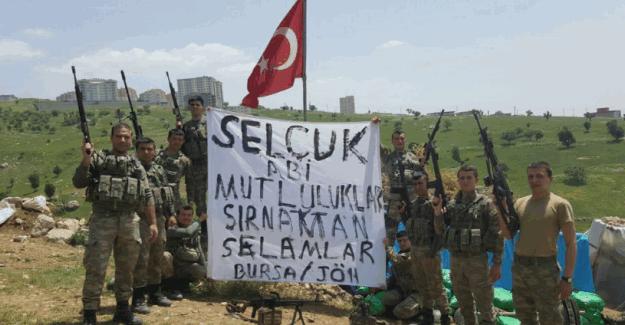 Askerlerin, Selçuk Bayraktar ve Sümeyye Erdoğan'a mesajı