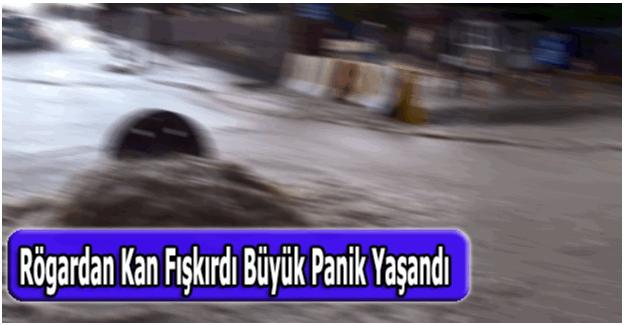 Aydın'da rögardan kan fışkırdı vatandaş büyük panik yaşadı