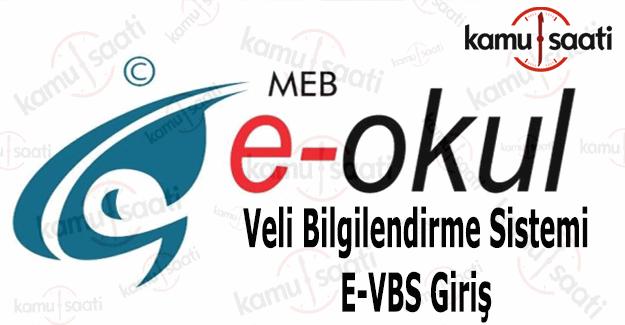 E-okul veli bilgilendirme sistemi 2016 e-okul vbs giriş