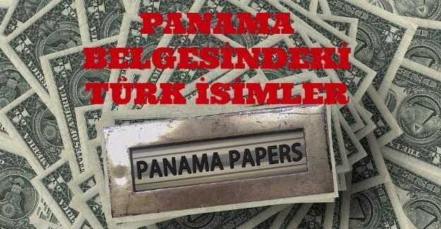 Panama Belgesindeki Türk isimler