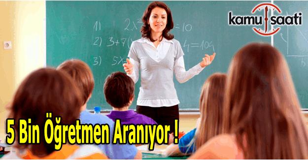 Türkiye Özel Okullar Derneği 5 bin öğretmen arıyor