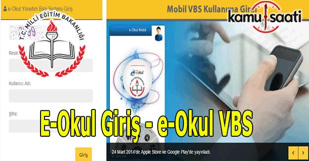 E-Okul Giriş, e-okul veli bilgilendirme sistemi (VBS)