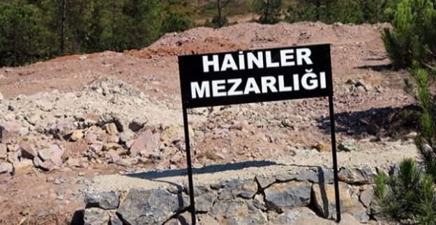 'Hainler Mezarlığı' tabelası kaldırıldı