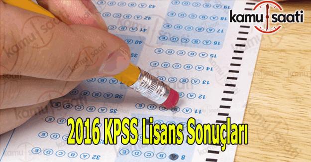 KPSS sonuçları açıklandı mı? 2016 KPSS sonuç tıkla öğren