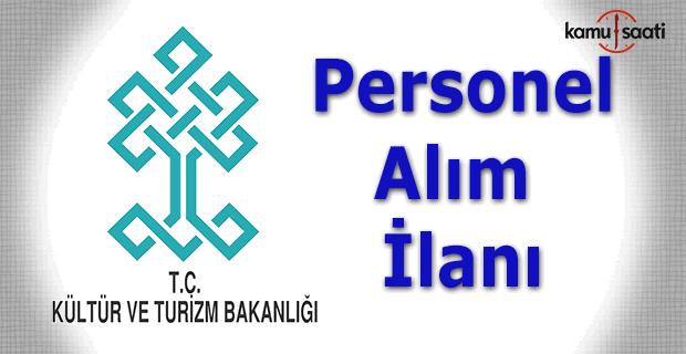 Kültür Ve Turizm Bakanlığı 400 Sözleşmeli Personel Alım ilanı