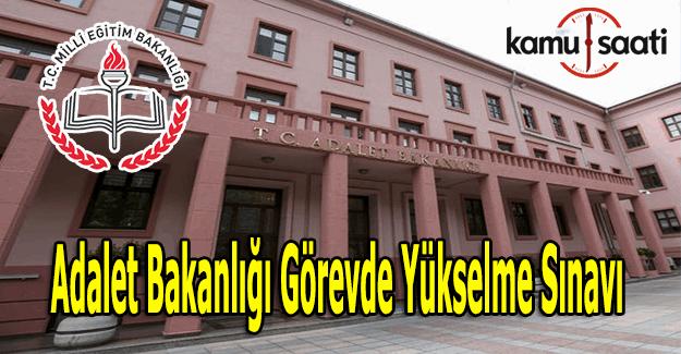 Adalet Bakanlığı Görevde Yükselme Sınavı başvuruları başladı - Sınavda çıkacak konular