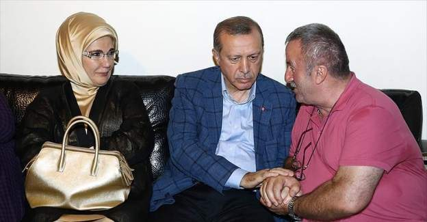 Cumhurbaşkanı Erdoğan'dan şehit ailesine taziye ziyareti