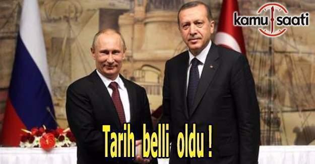 Erdoğan - Putin görüşmesinin tarihi belli oldu