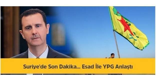 Suriye'de Önemli Gelişme-Esad ile YPG anlaşma sağladı