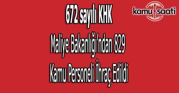 672 sayılı KHK ile Maliye'den ihraç edilenlerin isim listesi (Tam liste)