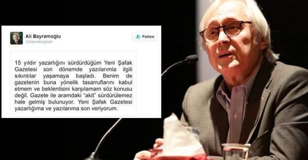 Ali Bayramoğlu Yeni Şafak'tan ayrıldı!