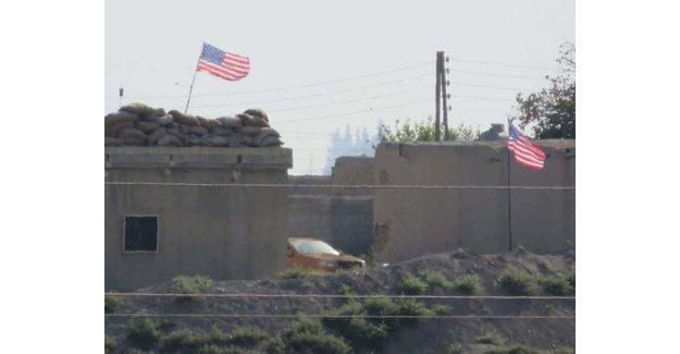 Evlerin çatısına ABD bayrakları asıldı!