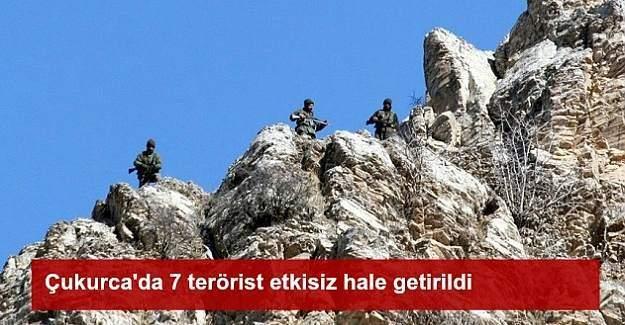 Hakkari Çukurca'da 7 terörist etkisiz hale getirildi