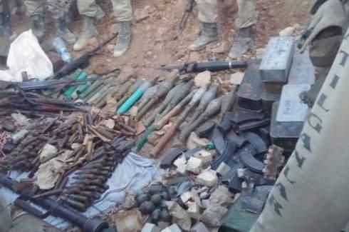 Kale Tepe'de PKK'ya ait cephanelik ele geçirildi
