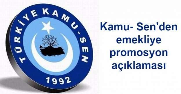 Kamu-Sen'den emekliye promosyon açıklaması